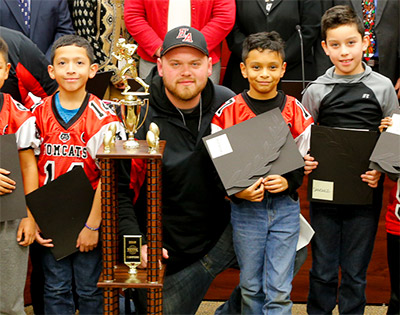 Board honors Tomcat Youth Football champs